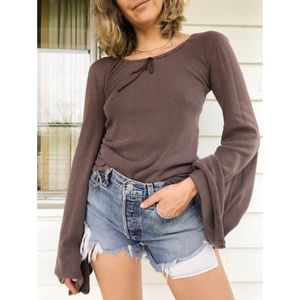 Vintage Tops - Vintage PLUM BROWN KNIT / SMALL